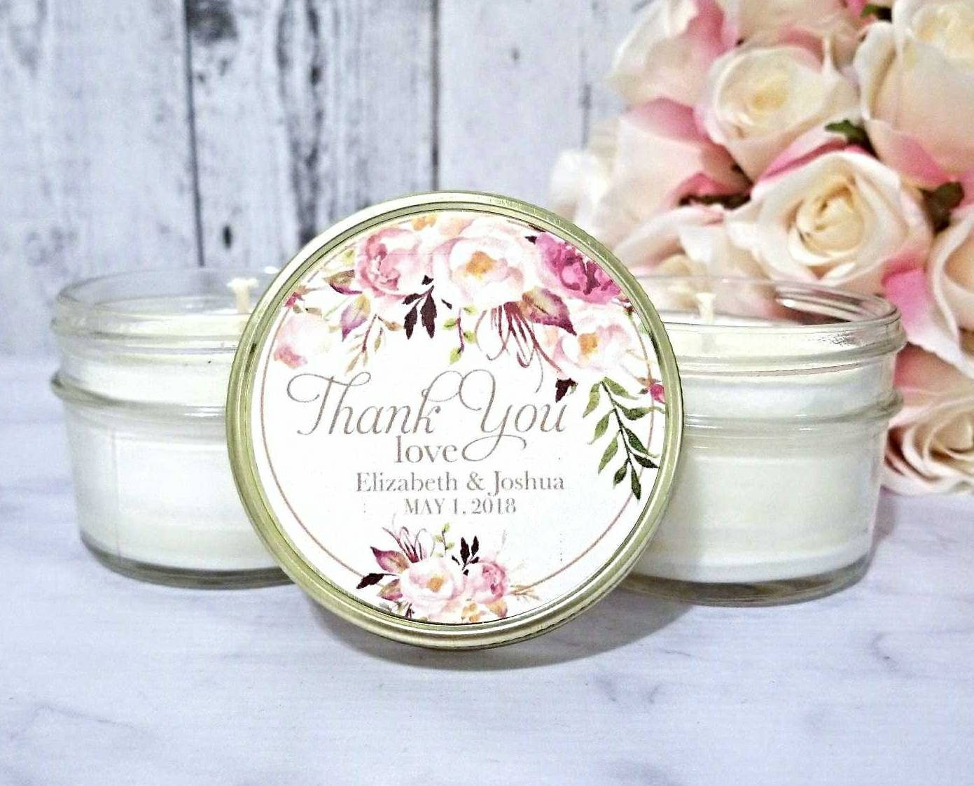 Blush Wedding Favors Candle - Wedding Favors Candles - Blush Wedding ...
