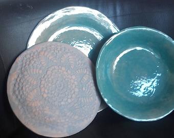 Lake blue country Dinnerware