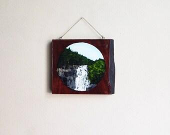 Gatlinburg Tennessee Waterfall, Original Painting by Erin McGrath