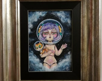 Cosmic Doll - pop surrealism original painting