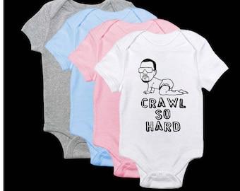 Crawl So Hard Graphic Onesie