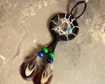Dream Catcher Feather Earring - Beaded Feather Earring, Native American Jewelry - Angelic Dreams
