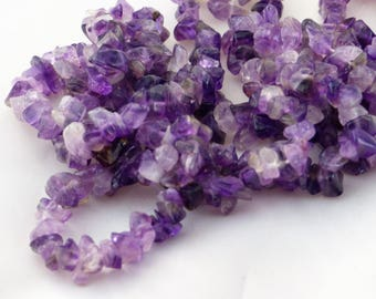 Amethyst chips beads