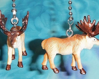 Set of Two ~ Elk Hunter Forest ~ Ceiling Fan Pull Chains