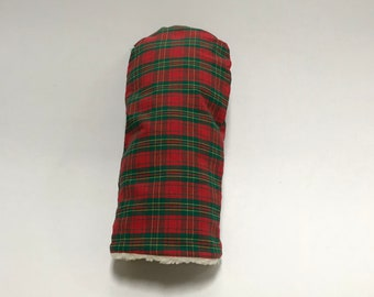 Red and Green Tartan Golf Club Cover