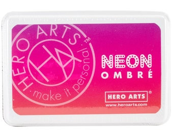 Hero Arts Ombre Ink Pad Stamp Pad Pink to Red