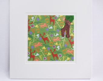 """ROBIN Hood and MAID Marian faerie tale feet signed limited edition prints """"just outlawe robin hood"""" and """"maid marian, aventuriere."""""""