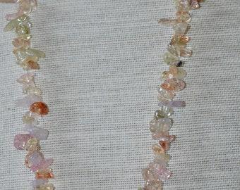 Ice flake quartz necklace