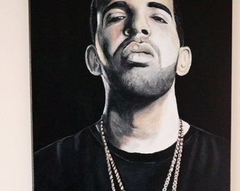 Drake Painting on 16x20 inch canvas