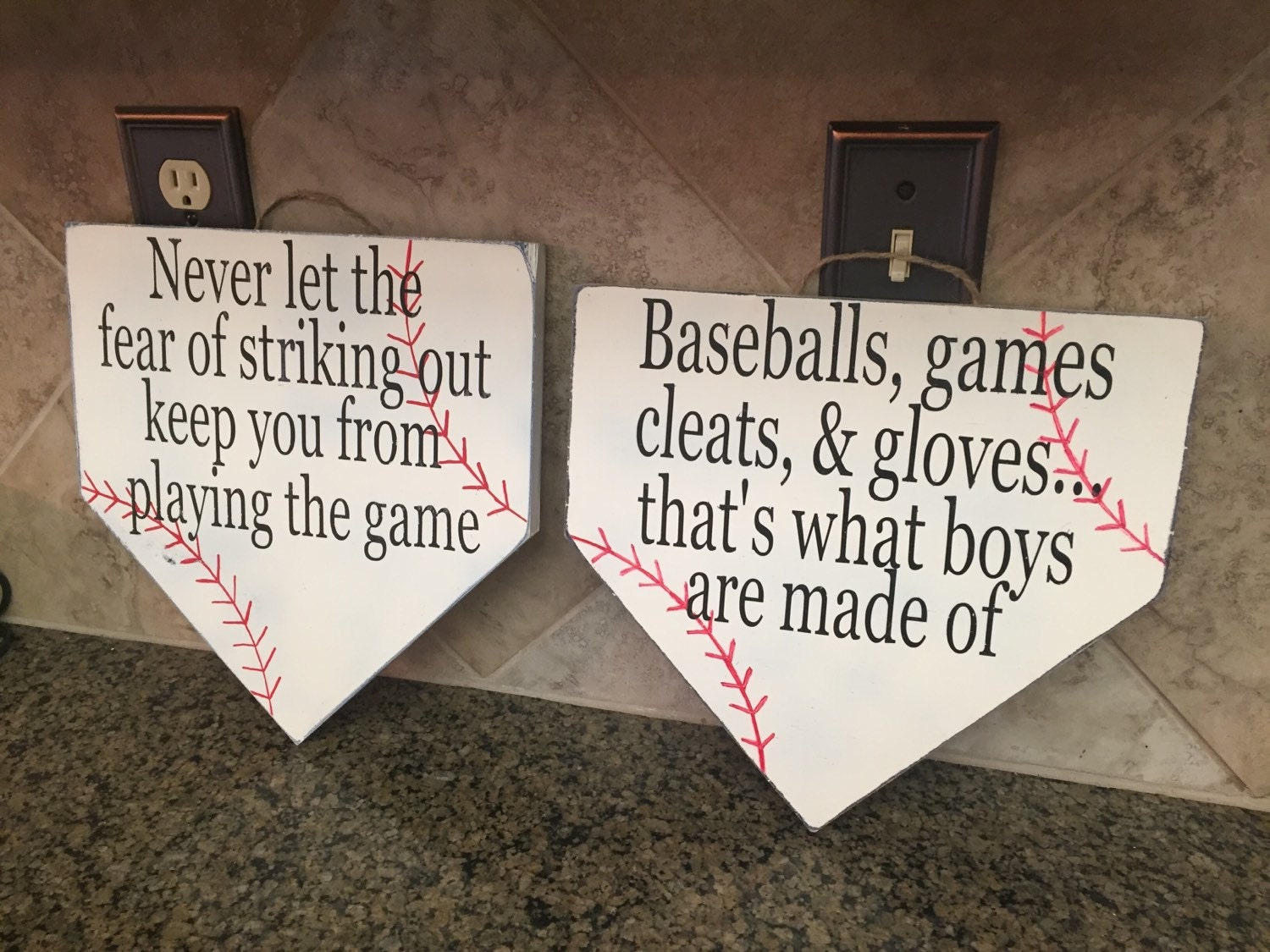 ON SALE Baseball Room Decor Signs Sign