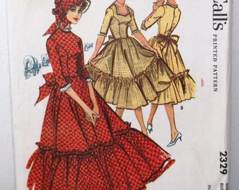 McCall's 2329 - Misses Centennial and Square Dance Costume