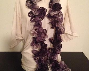 Purple Sashay / Ruffle Scarf
