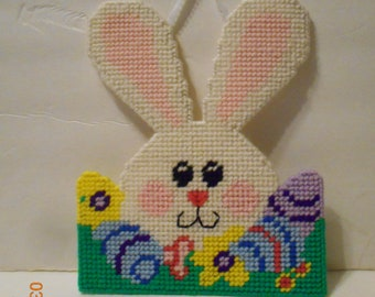 Easter Bunny,rabbit,  wall hanging, plastic canvas