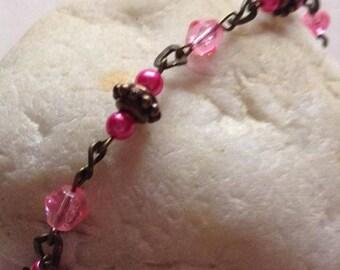 pink anklet