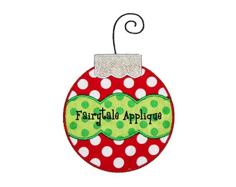 Digital Machine Embroidery Design - Christmas Ornament Applique