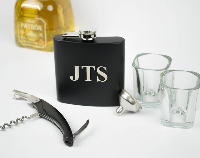Groomsmen Flask, Personalized Flask Set