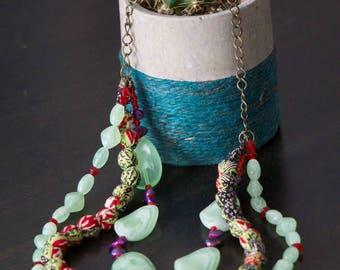 Batik beaded Java necklace