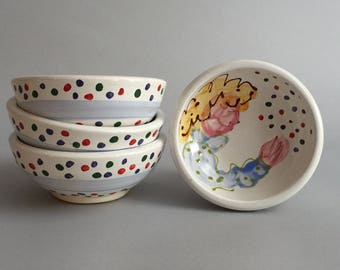 Set of 4 Confetti Woman Dessert Bowls