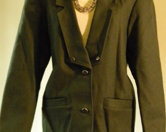 Belavista Military Style Olive Green Blazer