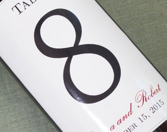 Wine Label Table Numbers, Simple, Classic and Traditional