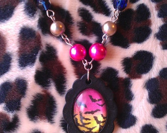 Bat Country Cameo Necklace