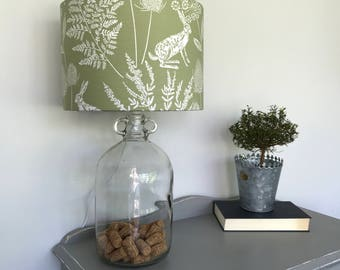 Bespoke Country Style Print Drum Lampshade