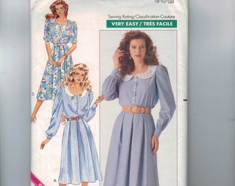 1980s Vintage Sewing Pattern Butterick 3405 Misses Easy Modest Top Skirt with Lace Collar Pleated Skirt Size 8 10 12 Bust 31 32 34 UNCUT  99