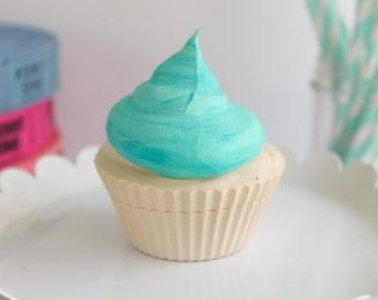 Plain Watercolor Cupcake- Fake cupcake, prop cupcake, party decor