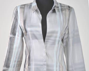 Kenzo ladies grey suit jacket and pencil skirt FR 38 DE 36 UK 8 10 us S M