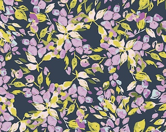 Bougainvillea Lilac - Sage - Bari J. - Art Gallery Fabric - 100% Quilters Cotton Available in Yards, Half Yards and FQ's SGE-14452