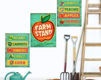 Farm Stand Fresh Produce Wall Decal Set - #58138