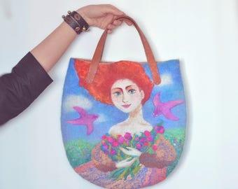 Felted bag Floral