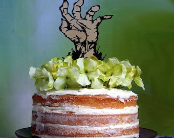 Halloween Cake Topper, Zombie Cake Toppers, Zombie Centerpiece, Custom Party Decor, Walking Zombies, Zombies Wedding Toppers, Zombie Party