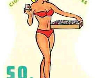 Vintage Style  Columbia SC  South Carolina pin-up girl Charleston   Travel Decal sticker