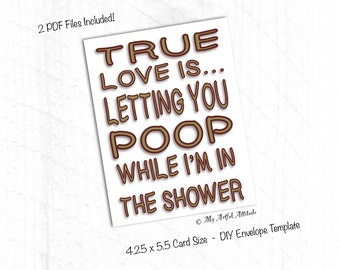 PRINTABLE Card, Funny Valentines Card, Inappropriate Boyfriend Birthday Card, Sarcastic Anniversary Card For Him