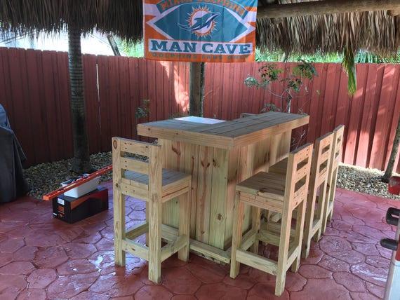 Exterior Bar Stool Durable Rustic outdoor Bar stools hand