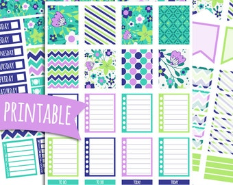 Lucky PRINTABLE Planner Stickers for Erin Condren Vertical | Sticker Printables | Happy Planner Stickers | Glam Planning | Spring Stickers