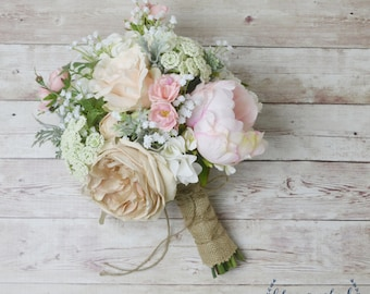 Wedding bouquets etsy boho bouquet silk flower bouquet wedding bouquet bridal bouquet peony bouquet mightylinksfo Image collections