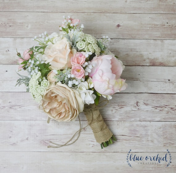 Wedding Bouquets Not Flowers: Boho Bouquet Silk Flower Bouquet Wedding Bouquet Bridal