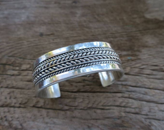 Vintage Thick Tom Hawk Unisex Sterling Cuff