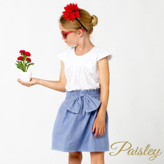 EASY Girls Skirt Pattern, Shorts Pattern, High Waisted Shorts ...