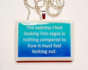 The Sadness I feel  Game Tile Pendant Necklace
