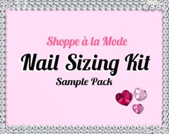 Nail Sizing Sample Kit   Press On Fake Nails   Find Your Perfect Nail Sizes   Try All Sizes   Know For Sure   False Nails Glue On Nails