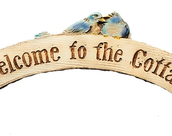 Welcome to the Cottage Sign and Door topper