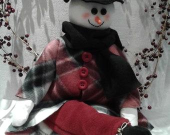 Snowman,Snowman Shelf Sitter,Winter decor,Holiday decor,Christmas decor,Country decor