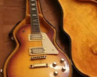 1970's UniVox Les Paul Electric Guitar & Original case.
