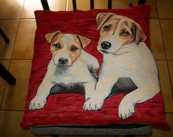 "Dog pattern cushion ""Jack Russell"""