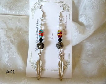 Clearance Sale: Dangle Earrings of all Different Types, Five Different Pairs on Each Listing  E41-45