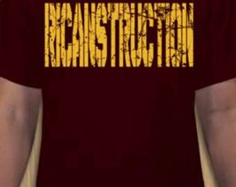 RICANstruction Mens tshirts for the reconstruction of Puerto Rico.