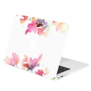 """Vibrant Summer Series Graphic Rubberized Hard Case for Macbook Air 13"""" 13-Inch Model: A1369 / A1466 – Violet Reflection"""